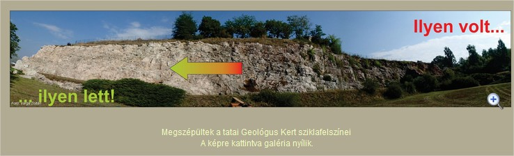 millió év, kőbe vésett, geológus kert, tata,